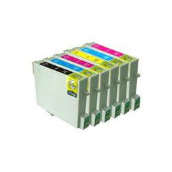 Kit-Com-6-Cartuchos-Compativeis-48N-P-Epson-R200-R220-R300-R300M-R320-R340-RX500-RX600