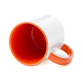 Caneca-para-Sublimacao-com-Alca-e-Interior-Laranja---em-Ceramica-Branca-1