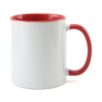 Caneca-para-Sublimacao-com-Alca-e-Interior-Vermelho---em-Ceramica-Branca