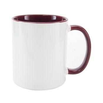 Caneca-para-Sublimacao-com-Alca-e-Interior-Vinho---em-Ceramica-Branca
