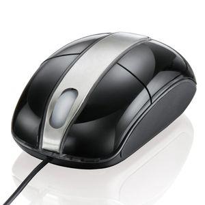 Mouse-Optico-Steel-Black-Piano-Multilaser