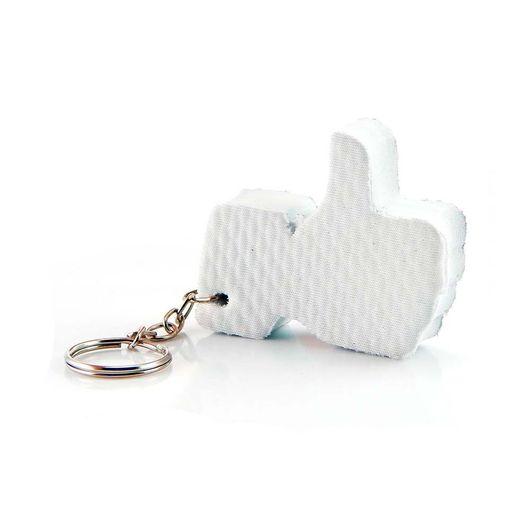 Chaveiro de Borracha Like Branco - 5 unidades - socd-mob fc202b909f123