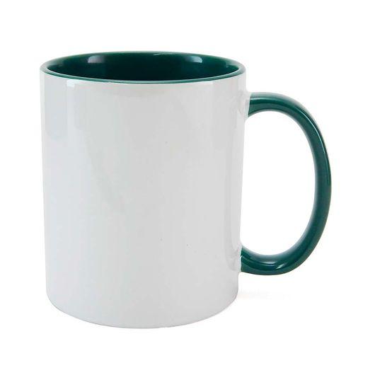 Caneca-para-Sublimacao-com-Alca-e-Interior-Verde-Escuro---em-Ceramica-Branca