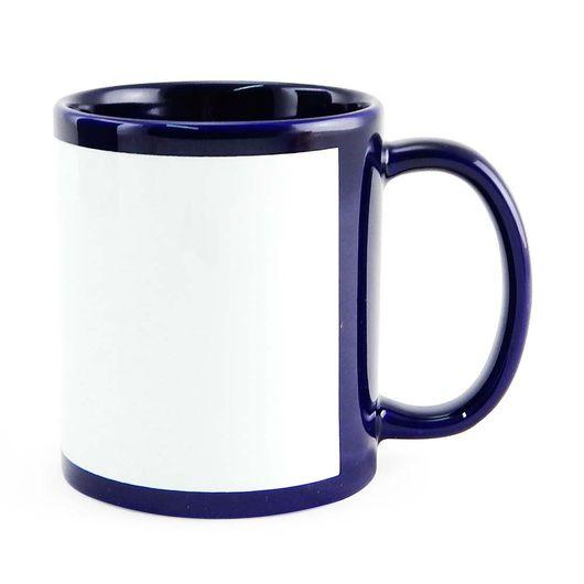 Caneca-para-Sublimacao-de-Ceramica-Azul-Escuro-com-Faixa-Branca