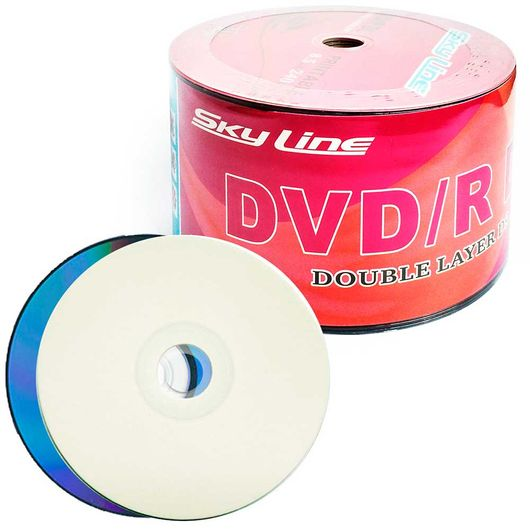 DVD-R-Sky-Line-Dual-Layer-Printable--Full-Hub--Umedisc--8.5GB