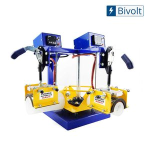 Maquina-de-Transfer-Carrossel-Duplo-para-Estampar-Caneca-Acrilica-com-4-Tarugos---Bivolt
