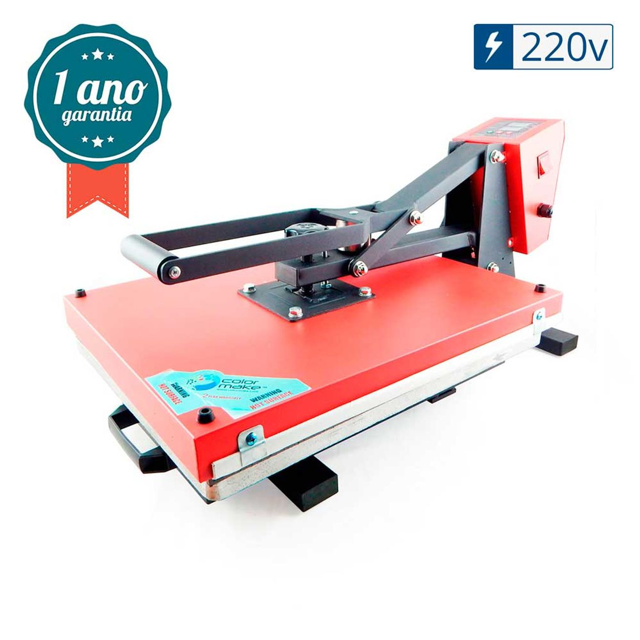 0a9ae9216 Prensa Térmica Plana (Base 50x40) Magnética com Gaveta Color Make - 220v