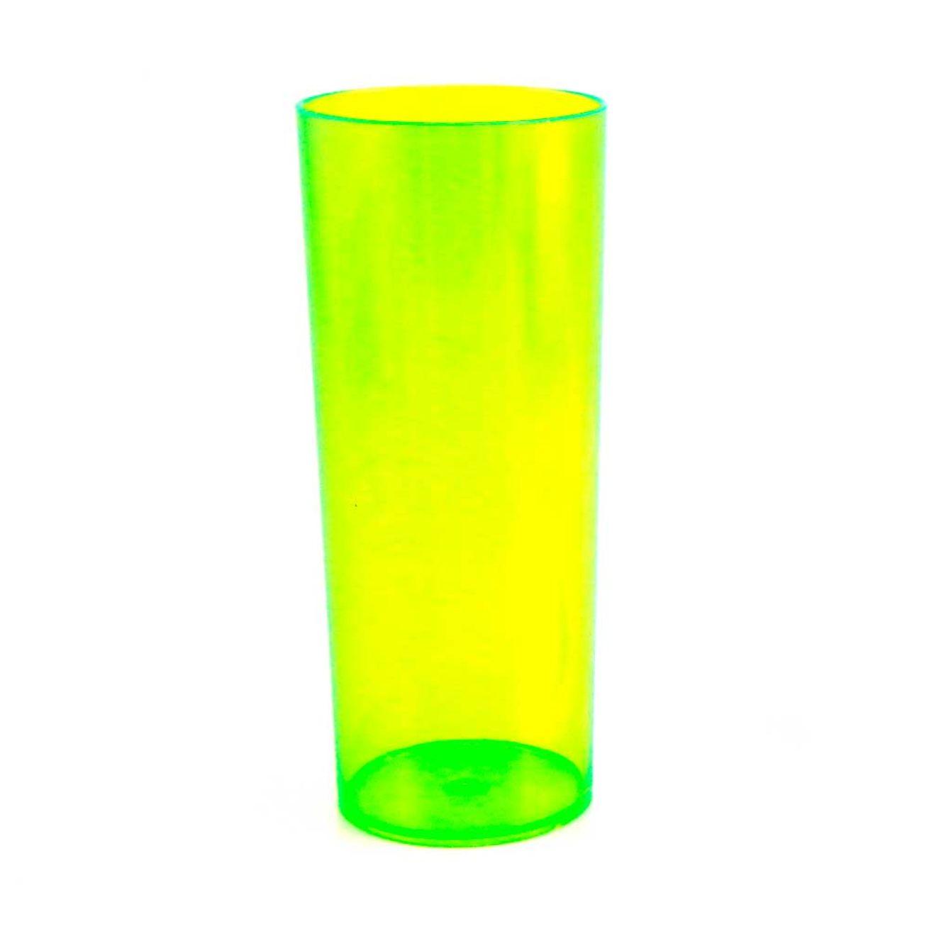 e8fe67365 Copo Long Drink de Acrílico Verde Neon - 350ml - socd-mob