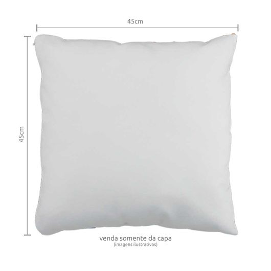 Capa de Almofada em Tecido Oxford com Zíper Invisível 45x45cm