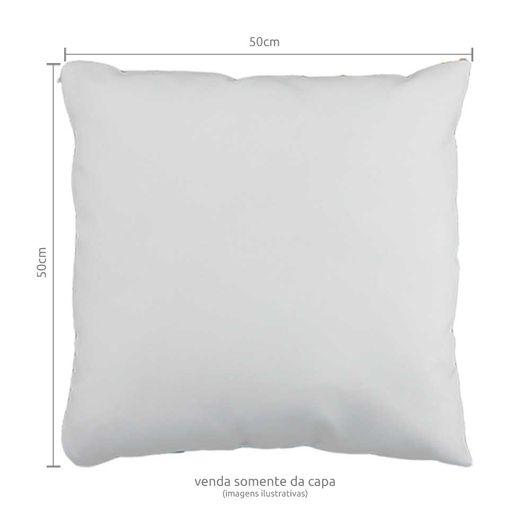 Capa de Almofada em Tecido Oxford com Zíper Invisível 50x50cm