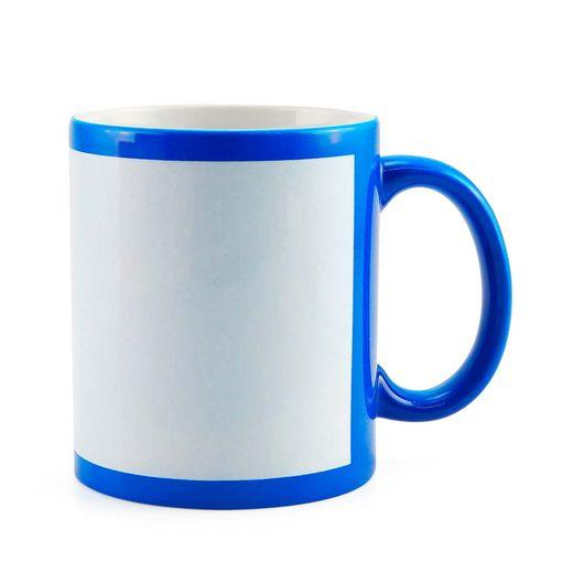 Caneca-para-Sublimacao-de-Ceramica-Cor-Azul-Fluorescente-com-Faixa-Branca