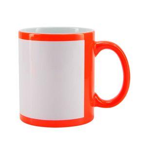 Caneca-para-Sublimacao-de-Ceramica-Cor-Vermelha-Fluorescente-com-Faixa-Branca