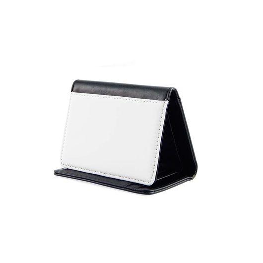 Carteira de Courino Preta Pequena para Sublimação 12,5x8,3cm - CO61