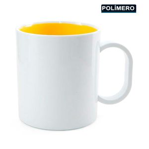Caneca-para-Sublimacao-de-Plastico-Branco-com-Interior-Amarelo-Classe-AAA