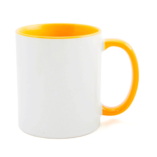 Caneca-para-Sublimacao-de-Ceramica-Branca-com-Alca-e-Interior-Amarelo-Ouro---1-Unidade