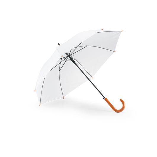 Guarda-Chuva-Cabo-Curvo-em-Madeira-para-Sublimacao-na-Cor-Branco---Tamanho-104mts-