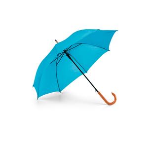 Guarda-Chuva-Cabo-Curvo-em-Madeira-para-Sublimacao-na-Cor-Azul-Clara---Tamanho-104mts