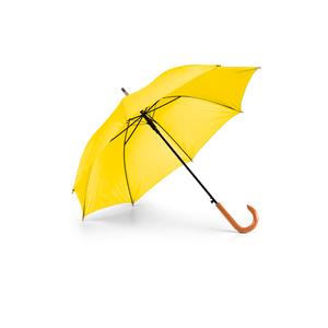Guarda-Chuva-Cabo-Curvo-em-Madeira-para-Sublimacao-na-Cor-Amarelo---Tamanho-104mts