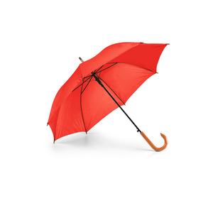 Guarda-Chuva-Cabo-Curvo-em-Madeira-para-Sublimacao-na-Cor-Vermelho---Tamanho-104mts