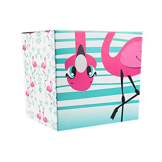 Caixinha-de-papelao-decorada-flamingos-1