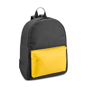 Mochila-Preta-com-Bolso-Amarelo