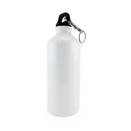 Squeeze-de-Aluminio-Branco-com-Mosquetao-para-Sublimacao