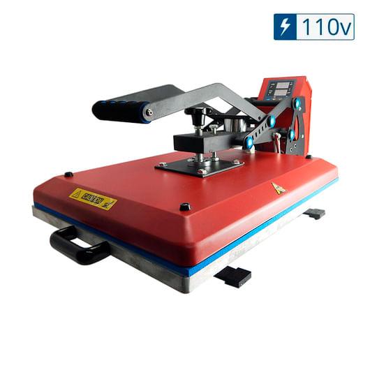 Prensa-Termica-Plana--Base-40x50--Eletromag.-e-Gaveta-Vermelha-com-Pistao---110v