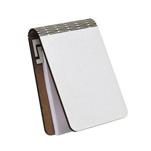 caderneta de mdf flexivel com bloco de papel