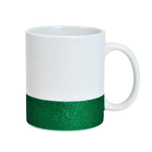 Caneca-para-Sublimacao-de-Ceramica-Base-Glitter-verde-Importada