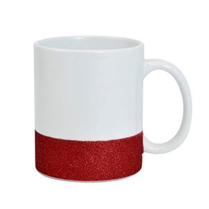 Caneca-para-Sublimacao-de-Ceramica-Base-Glitter-vermelha-Importada