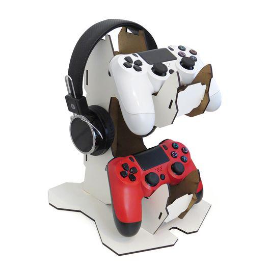 Porta-Controle-Gamer-de-MDF-Texturizado-Brilho
