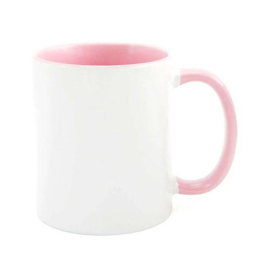 Caneca-para-Sublimacao-com-Alca-e-Interior-Rosa---em-Ceramica-Branca