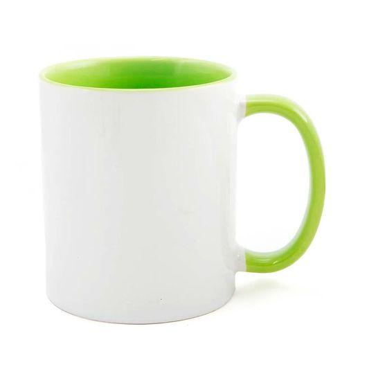 Caneca-para-Sublimacao-com-Alca-e-Interior-Verde---em-Ceramica-Branca