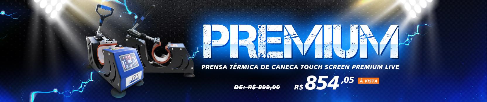 Prensa caneca live Premium / Prensa live Gaveta / prensa portátil