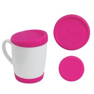 Kit-Tampa-e-Base-de-Silicone-para-Canecas-300ml---Pink
