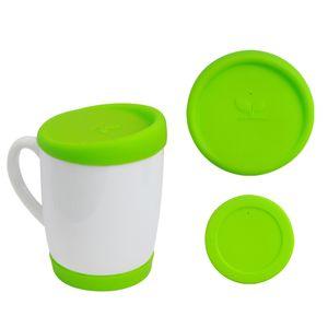 Kit-Tampa-e-Base-de-Silicone-para-Canecas-300ml---Verde-neon